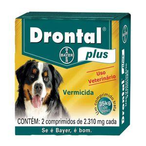 Drontal Plus 35kg com 2 comp Bayer