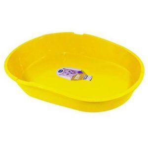 Banheiro Bandeja para Gatos Amarela Furacão Pet