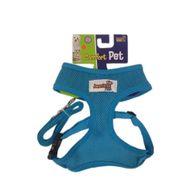 Guia-e-Peitoral-Confort-Azul-American-Pets