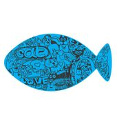 Jogo-Americano-Futon-Dog-EVA-Cat-Grafiti---Azul