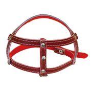 Peitoral-Forrado-Feltro-Vermelho-Sao-Pet-43-cm-x-25-mm-N0