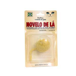 Novelo-de-La-com-CatNip-Amarelo-PetPira