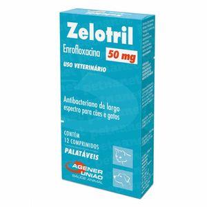 Antibiótico Zelotril Cães e Gatos Agener - 50mg