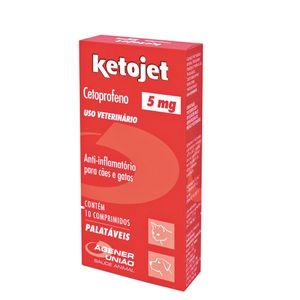 Anti-inflamatório Ketojet Cães e Gatos Agener 10 Comprimidos - 5mg