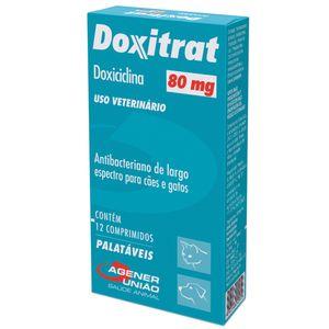 Antibiótico Doxitrat Cães e Gatos Agener 80mg - 12 comprimidos
