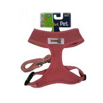 Guia-e-Peitoral-Confort-Rosa-American-Pets