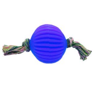 Bola-Borracha-Facetada-com-Corda-Azul-Art-Injet