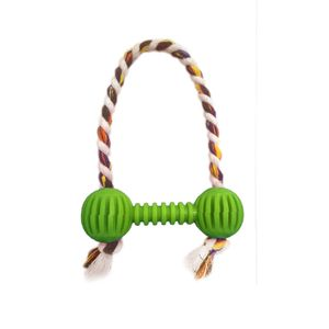 Brinquedo-Halteres-Vazado-com-Corda-Verde-Art-Injet