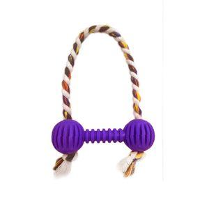 Brinquedo-Halteres-Vazado-com-Corda-Roxo-Art-Injet