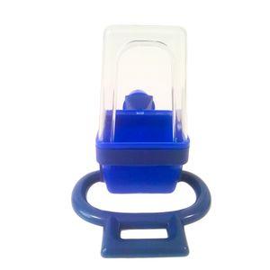 Comedouro-Chao-Limpo-com-Puleiro-Azul