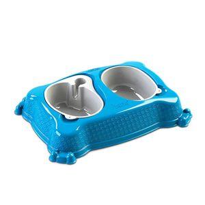 Comedouro-Duplo-Azul-New-Pratic-Plast-Pet