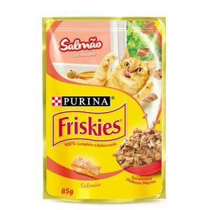 Ração Úmida Nestlé Purina Friskies Salmão ao Molho Gatos Adultos 85g