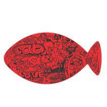 Jogo-Americano-Futon-Dog-EVA-Cat-Grafiti---Vermelho