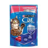 Alimento Úmido Cat Chow Castrados Carne