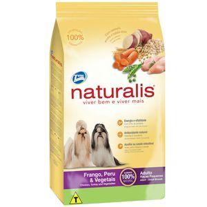 Ração para Cães Adultos Raças Pequenas Naturalis Frango, Peru e Vegetais
