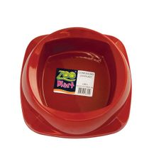 Comedouro-para-Caes-Vermelho-Zoo-Plast