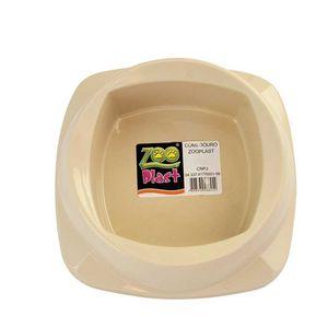 Comedouro-para-Caes-Bege-Zoo-Plast