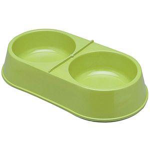 Comedouro-Plastico-Duplo-Grande-Verde