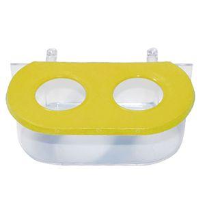 Comedouro-Oval-Com-Gancho-2-Furos-Amarelo-TudoPet