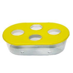 Comedouro-Oval-4-Furos-Amarelo-TudoPet