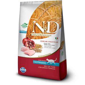 Racao-ND-Low-Grain-Feline-Castrado-Frango