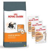 Combo-Royal-Canin-Gatos-Adultos-Hairball-e-Skin-Care