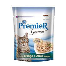 Alimento-Umido-Premier-Gourmet-Gatos-Frango-e-Arroz-Integral-70g