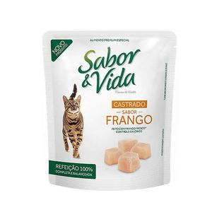 Alimento-Umido-Sabor-e-Vida-Gato-Castrado-Frango