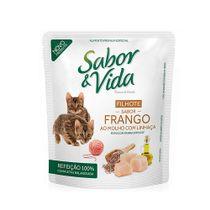 Alimento-Umido-Sabor-e-Vida-Gato-Filhote-Frango-ao-Molho