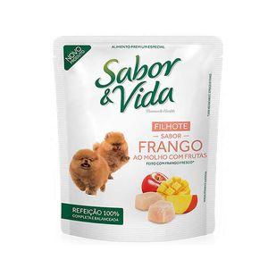 Alimento-Umido-Sabor-e-Vida-Cao-Filhote-Frango-ao-Molho