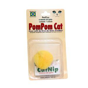 Brinquedo-Pompom-com-CatNip-Amarelo-PetPira