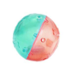 Bola-Oca-com-Chocalho-PVC-Verde-e-Rosa-Art-Injet