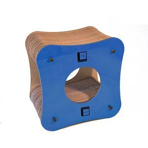Arranhador-Cubo-Azul-Gato-Morderno
