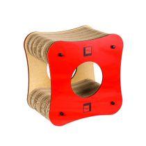Arranhador-Cubo-Vermelho-Gato-Morderno