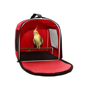 Caixa-Transporte-Calopsita-e-Pequenas-Aves-Vermelho-Bleckmann