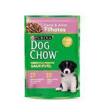 Alimento-Umido-Dog-Chow-Filhote-Racas-Pequenas-Carne-e-Arroz-100g