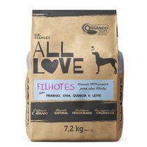Racao-All-Love-Caes-Filhote-Frango-Chia-Quinoa-e-Leite-72kg