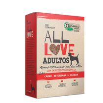 Racao-All-Love-Caes-Adultos-Carne-Beterraba-e-Quinoa-FRENTE