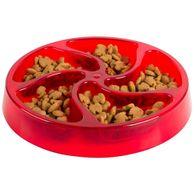 Comedouro-Caes-para-Alimentacao-Lenta-Buddy-Toys-Vermelho