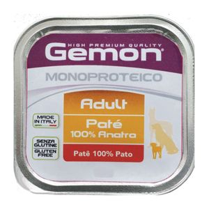 Alimento-Umido-Gemon-Pate-Caes-Monoproteico-Pato