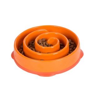 Comedouro-Lento-Fun-Feeder-Laranja-Pet-Trends
