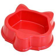 Comedouro-Plastico-Gatos-Vermelho-Triton-Dog
