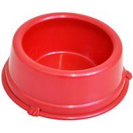 Comedouro-Plastico-Caes-Vermelho-Triton-Dog