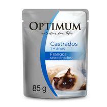 Alimento-Umido-Optimum-Sache-Gatos-Adultos-Castrados-Frango-85g