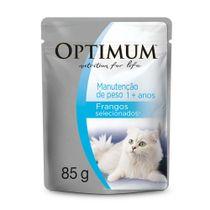 Alimento-Umido-Optimum-Sache-Gatos-Adultos-Manutencao-de-Peso-Frango-85g