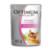 Alimento-Umido-Optimum-Sache-Gatos-Filhotes-Frango-100g