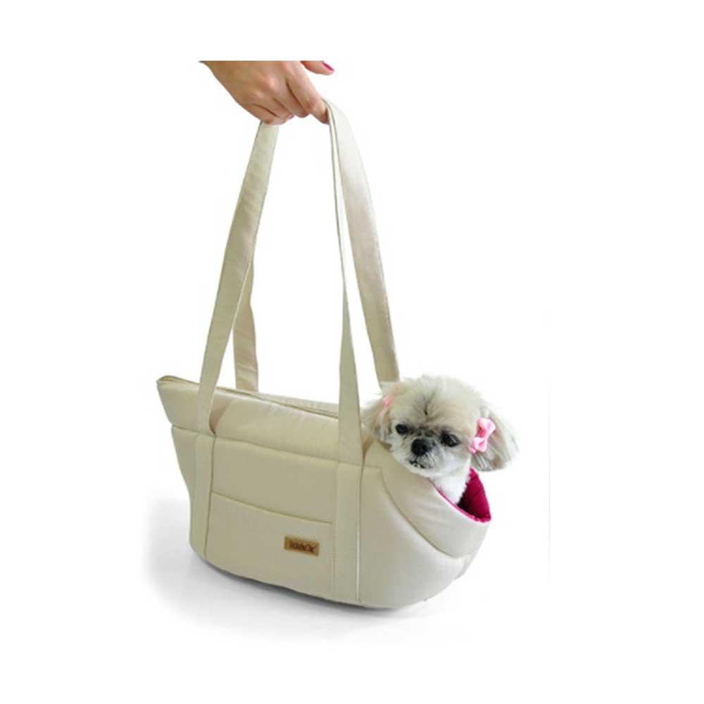 ea95872f4 Bolsa de Transporte Bege e Rosa Bichinho Chic - Cobasi pet Shop - Cobasi