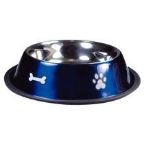 Comedouro-Inox-Rubber-Print-Azul-Jambo