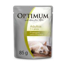 Alimento-Umido-Optimum-Sache-Gatos-Adultos-Frango-85g