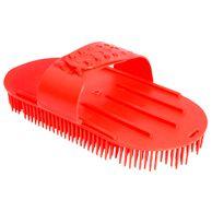 Escova-para-Caes-Alca-Regulavel-Vermelha-Pet-Flex